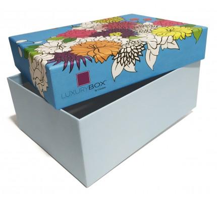 Caja forrada con estampado