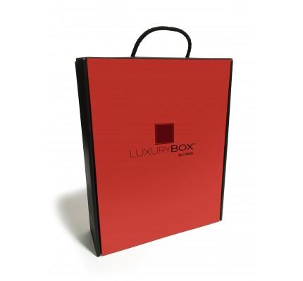 Caja cartón ondulado roja